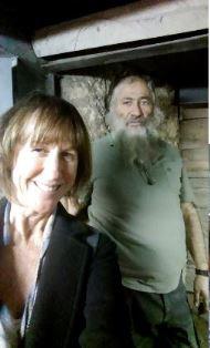 Bonnie Dawson in Israel with bearded man