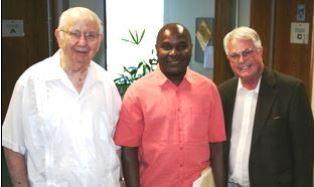 Dale Kietzman Andre Talla and Dan Wooding at KWVE