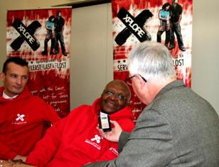 Dan Wooding interviewing Desmond Tutu