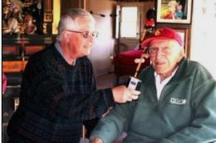 Dan Wooding interviews Louis Zamperini in his Hollywood Hills home