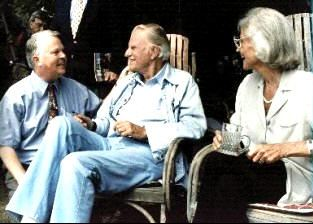 Dan Wooding with Billy and Ruth Graham
