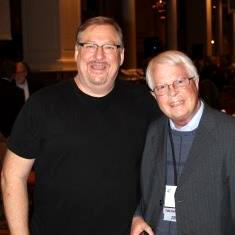 Rick Warren with Dan Wooding at the NRB 2013