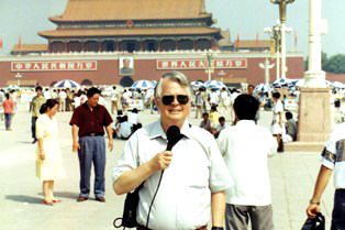 Dan Wooding reporting from Tiananmen Square in Beijing