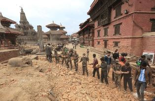 Earthquake workers for Christian Aid