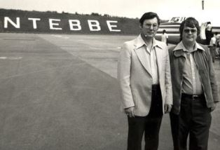 Ray Barnett and Dan Wooding arriving at Entebbe Airport
