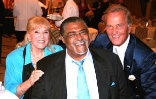 Shirley Boone with Rosey Grier and Pat Boone