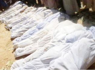 Body bags for some of those killed my Fulani herdsmen