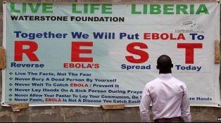 Ebola poster outside Monrovia