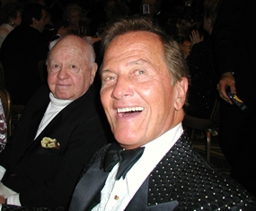 Pat Boone with Mickey Rooney at the MOVIEGUIDE Awards