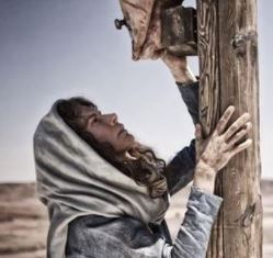 Roma Downey at the foot of the cross Son of God