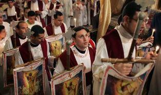 Coptic boys at service Jeremy Reynalds