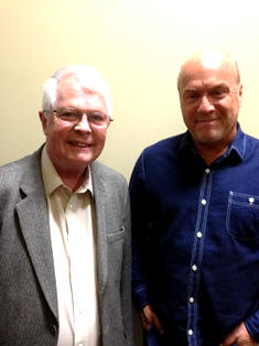 Dan Wooding with Greg Laurie after the interview