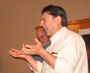 Tom Martinez praying for Steve Rees