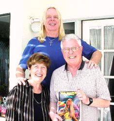 Dan and Norma with Rick Wakeman book