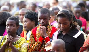 Part of the audience in Tanzania BGEA