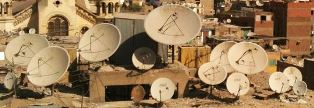 Satellite dishes in the Middle East for SAT 7 story
