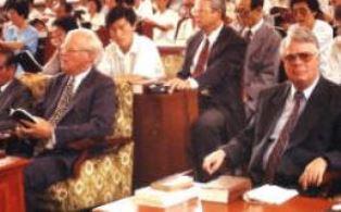 Dan Wooding in North Korean church