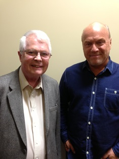 Dan Wooding with Greg Laurie