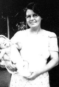 Dan Wooding with his mother as a baby