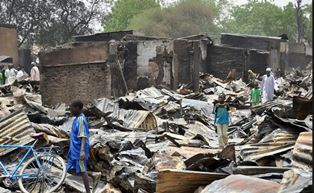 Devastion after another Boko Haram attack