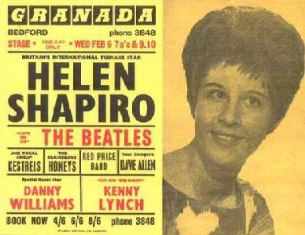 Helen Shapiro with the Beatles Chaz Gardner