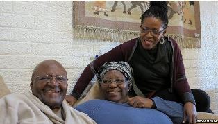 Tutu with wife and daughter