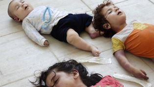 Child victims of chemical weapons in Syria