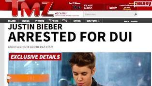 Justin arrested for DUI