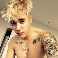 Justin dyes his hair Mark Ellis