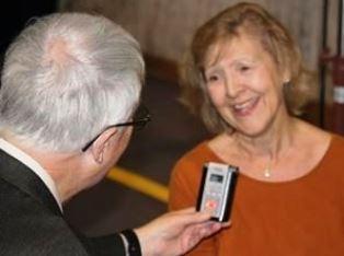 Karen Covell being interviewed by Dan Wooding