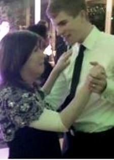 Leanne dancing with her new son in law McQuillan