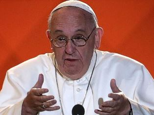 Pope Francis speaking in Philadelphia