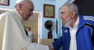 Pope meets Fidel Castro