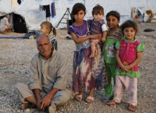 Refugees in Erbil camp WWM