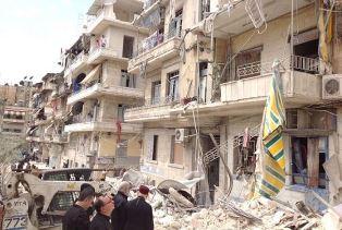 Prelates survey the damage in Aleppo Christian Aid