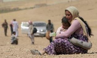 Refugees flee Mosul Mark Ellis