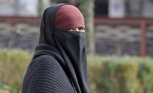 Woman wearing the veil in Belgium