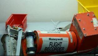 Crashed plane flight recorder