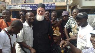Fr Themi Adams in Freetown