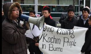 Protestors for the Kachin people