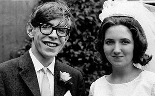 Stephen Hawkings and his then wife Jane