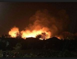 The Calais refugee camp on fire Mirror online