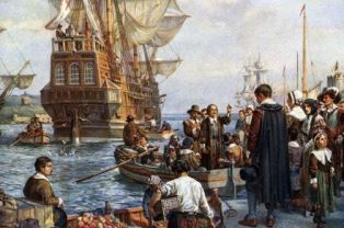The arrival of the Mayflower