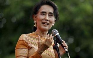 Aung San Suu Kyi speaking