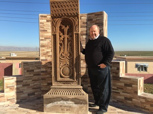 Bob Armstrong by Armenian genocide memorial