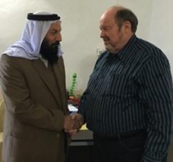 Bob Armstrong with Yazidi sheik
