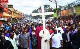 Christians in Eastern Uganda protest