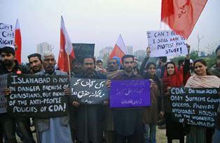 Pakistani protest Jeremy Reynalds