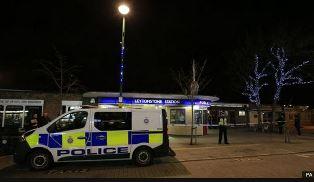 Police at Leytonstone Tube Station