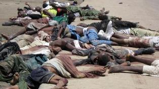 Shocking scene of Christians murdered in nigeria
